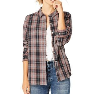 UGG Elin Flannel Button Down Size M